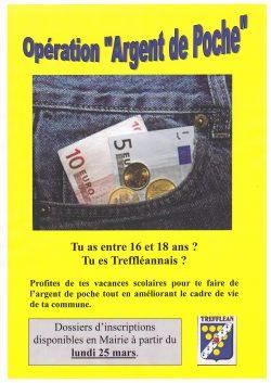 Affiche opération argent de poche