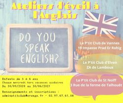 Ateliers d'éveil à l'anglais